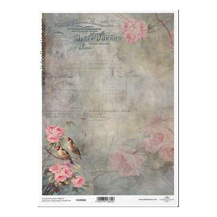 Scrapbooking paper A4 - SCM063 - ITD Collection