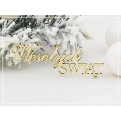 """Tekturka -Napis """"Wesołych Świąt""""- SnipArt"""