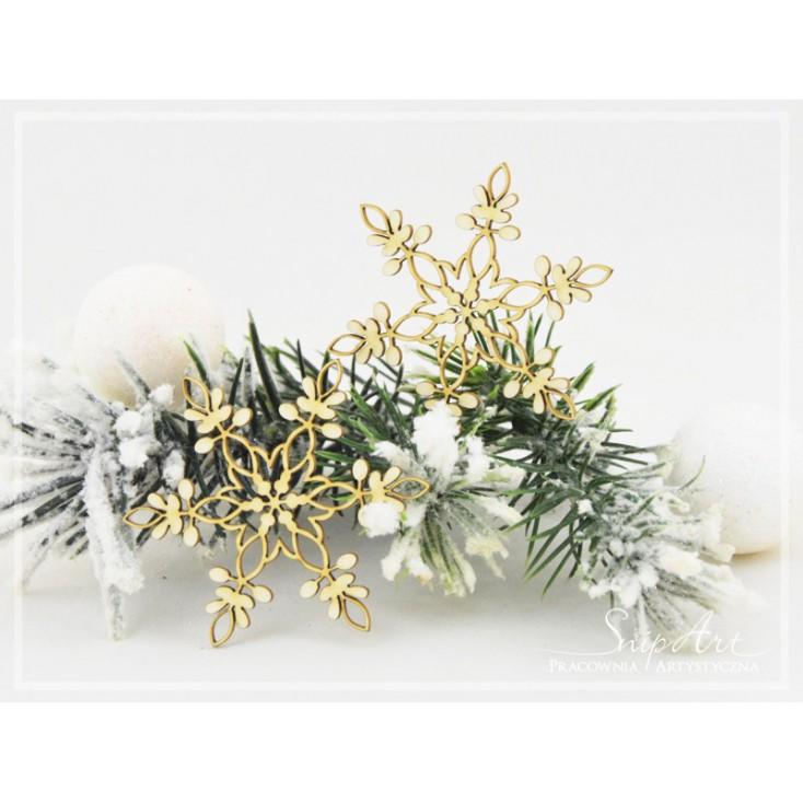 Cardboard- Snowflakes 1 -2 pcs. -SnipArt