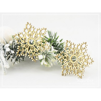 Cardboard- Snowflakes 2 -2 pcs. -SnipArt