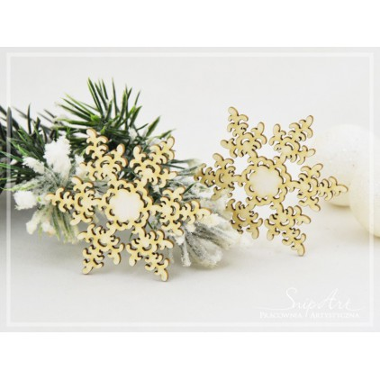 Cardboard- Snowflakes 3 -2 pcs. -SnipArt