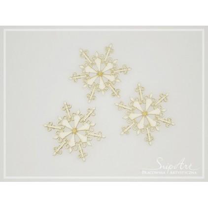 Cardboard- Snowflakes big -3 pcs. -SnipArt