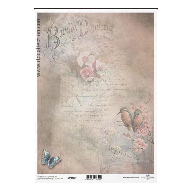 Papier do scrapbookingu A4 - SCM067 -ITD Collection
