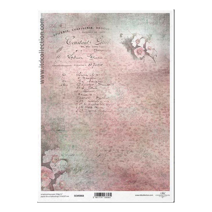 Scrapbooking paper A4 - SCM068- ITD Collection