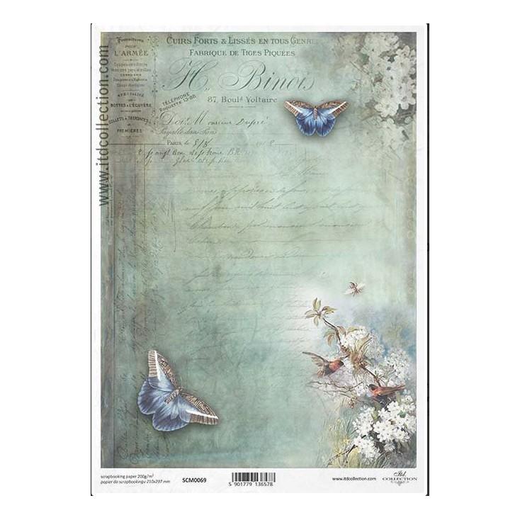 Papier do scrapbookingu A4 - SCM069 -ITD Collection