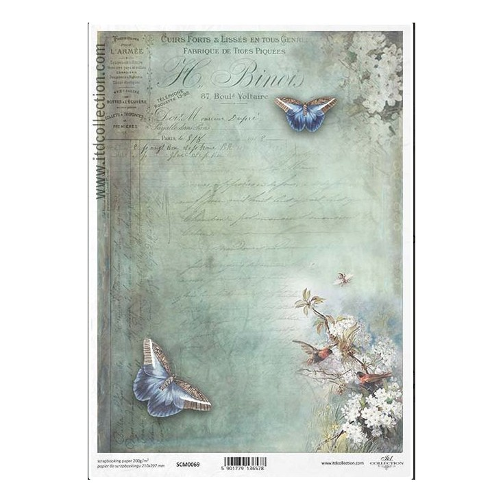 Scrapbooking paper A4 - SCM069- ITD Collection