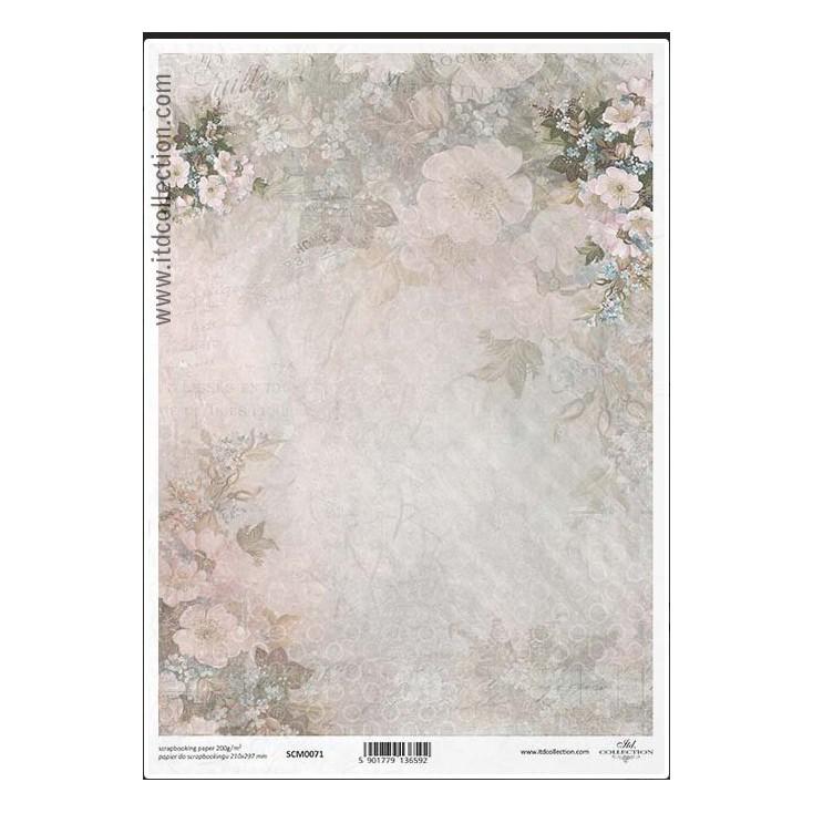 Papier do scrapbookingu A4 - SCM071 -ITD Collection