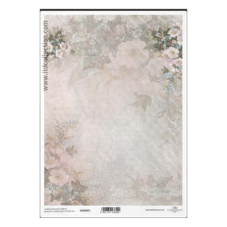 Scrapbooking paper A4 - SCM071- ITD Collection