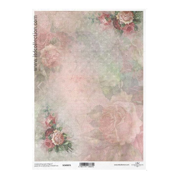 Scrapbooking paper A4 - SCM073- ITD Collection