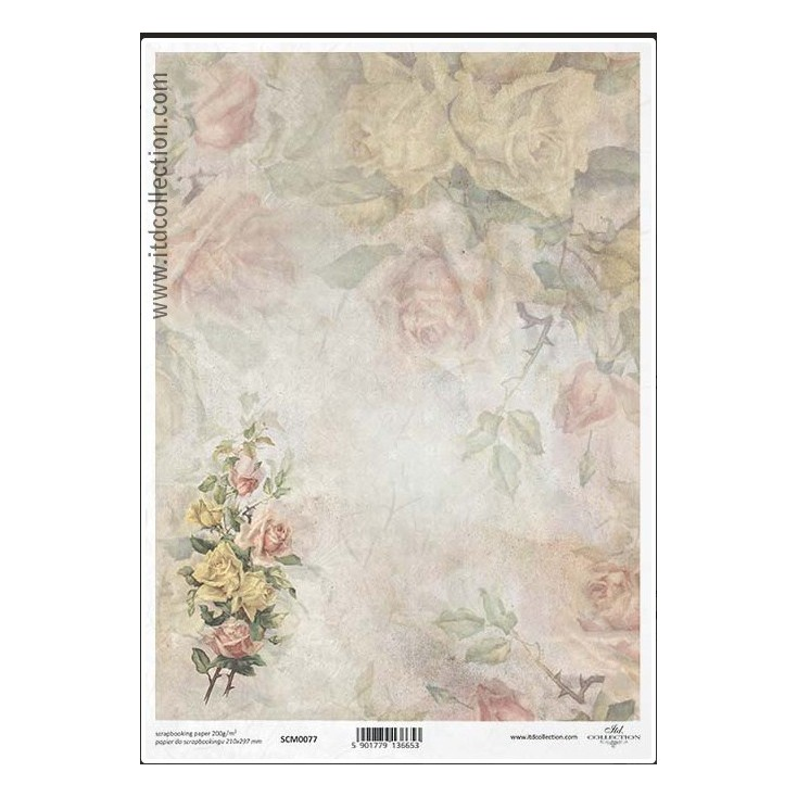 Scrapbooking paper A4 - SCM077- ITD Collection