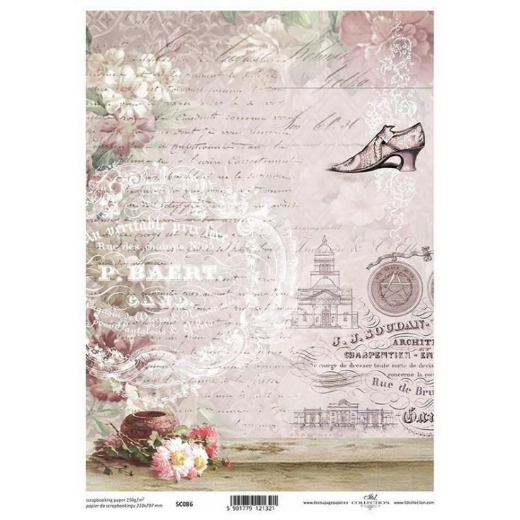Papier do scrapbookingu A4 - SCM086 -ITD Collection