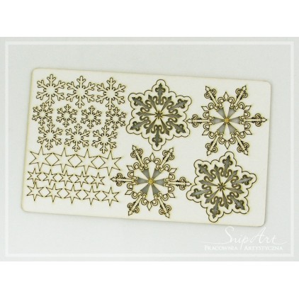 Cardboard - Snowflakes a set - SnipArt