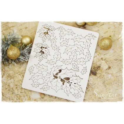 holly set - laser cut, chipboard - snipart