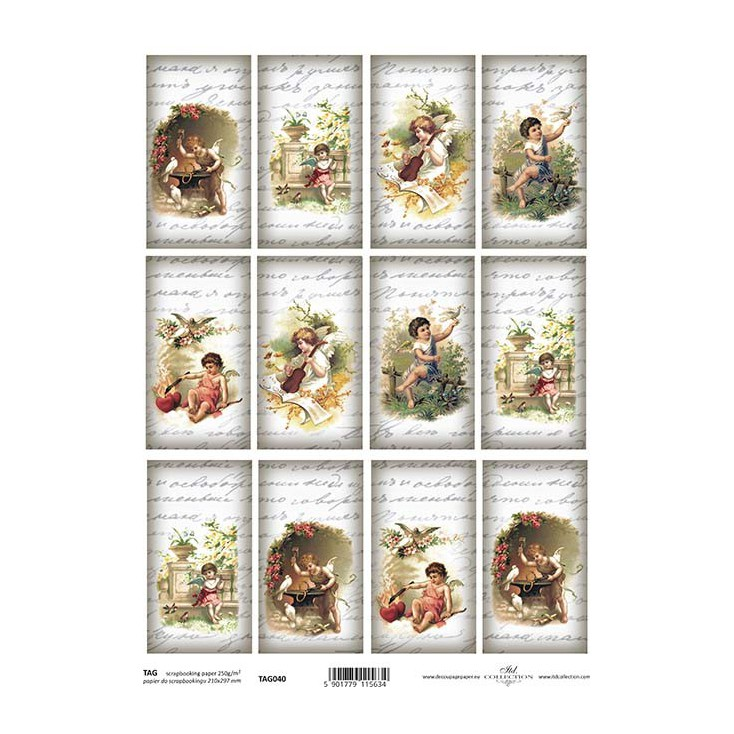Scrapbooking paper - TAG0040 - ITD Collection