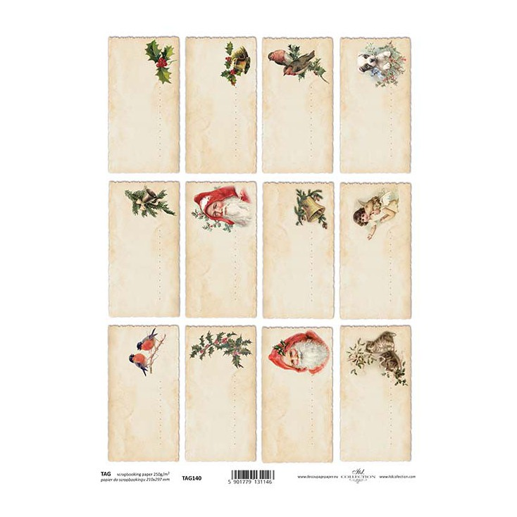 Papier do scrapbookingu - TAG0140- ITD Collection