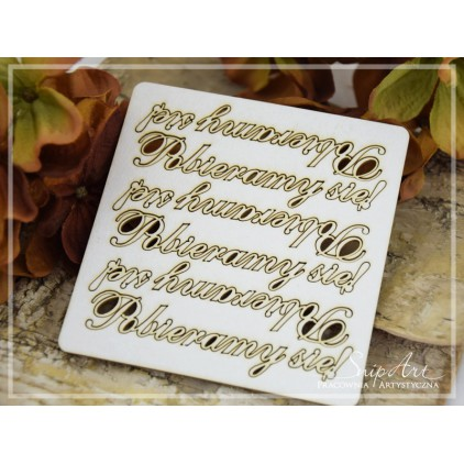 "Cardboard- inscription""Pobieramy się"" 2 - 6 pcs. SnipArt"