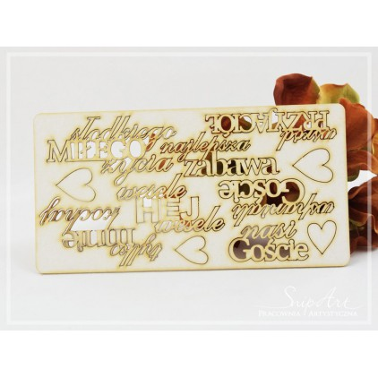 "Cardboard- ""Wedding"" inscriptions - set -SnipArt"