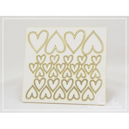 Cardboard- set of hearts -SnipArt