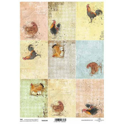 Scrapbooking paper - TAG0144 - ITD Collection