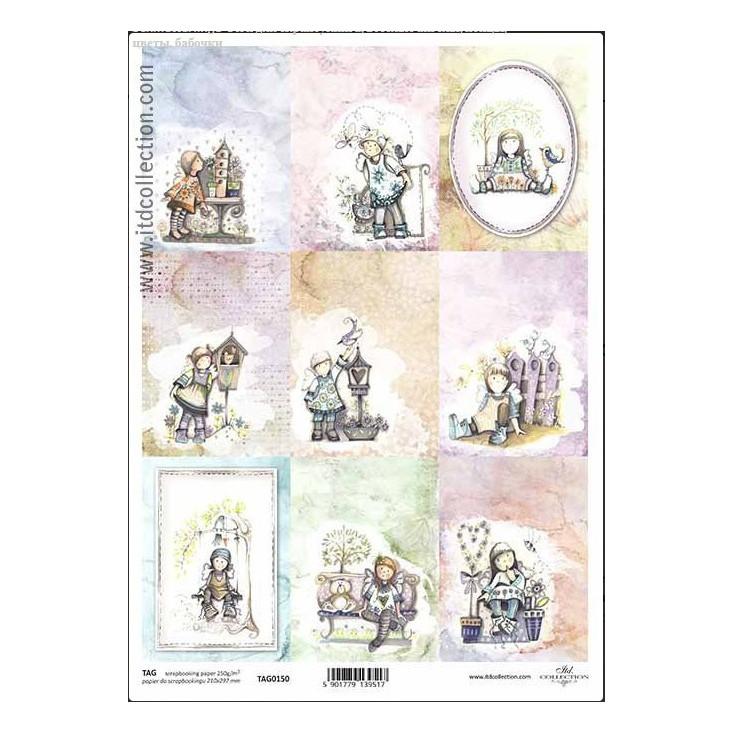 Papier do scrapbookingu - TAG0150- ITD Collection