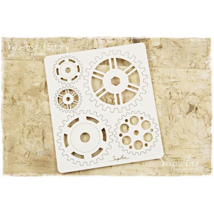 Cardboard - Industrial Factory - cogs and gears XXL -SnipArt