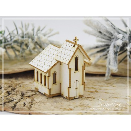 Tekturka -Mini domek - kościółek 3D -  SnipArt