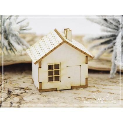 Cardboard - Mini house - hut 3D -SnipArt