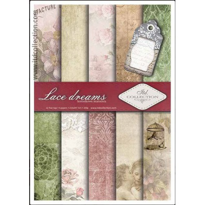 Set of scrapbooking papers - A4 - SCRAP006 - ITD Collection