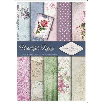 Set of scrapbooking papers - A4 - SCRAP008 - ITD Collection
