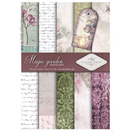 Set of scrapbooking papers - A4 - SCRAP014 - ITD Collection