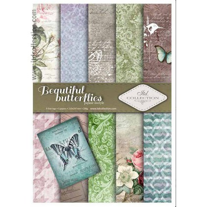 Set of scrapbooking papers - A4 - SCRAP016 - ITD Collection