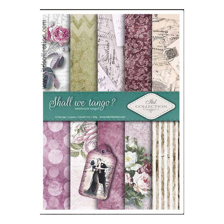 Set of scrapbooking papers - A4 - SCRAP017 - ITD Collection