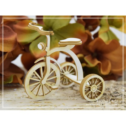 Cardboard - Tricycle 3D -SnipArt