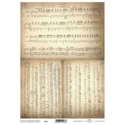 Papier pergaminowy drukowany, kalka - P0001- ITD Collection