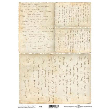 Papier pergaminowy drukowany, kalka - P0002- ITD Collection