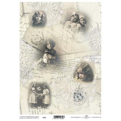 Papier pergaminowy drukowany, kalka - P013- ITD Collection