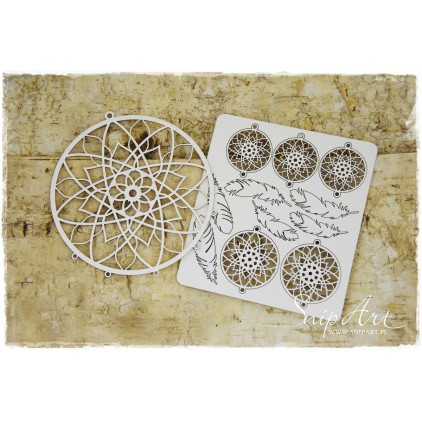 Cardboard- Mandalas Dreams - dream catcher - circle -SnipArt