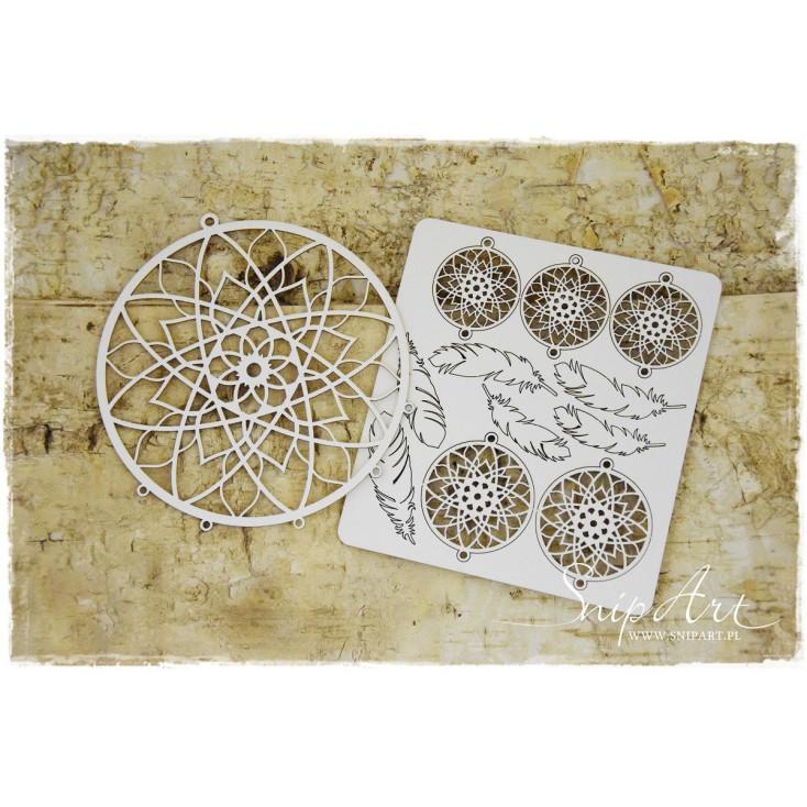 Cardboard- Mandalas Dreams - dream catcher - circle -SnipArt
