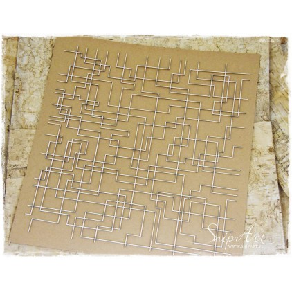 Cardboard - 30x30 background - LINES -SnipArt