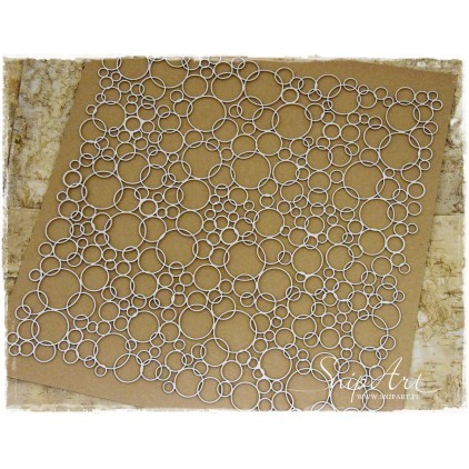Cardboard - 30x30 background - WHEELS bubbles -SnipArt
