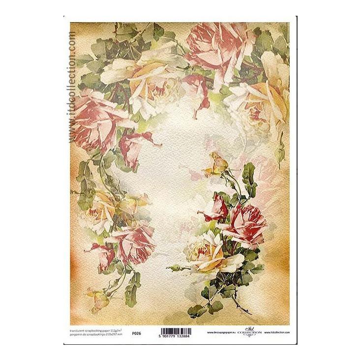 Papier pergaminowy drukowany, kalka - P026- ITD Collection
