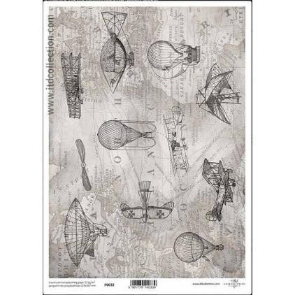 Papier pergaminowy drukowany, kalka - P032- ITD Collection