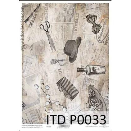Papier pergaminowy drukowany, kalka - P033- ITD Collection