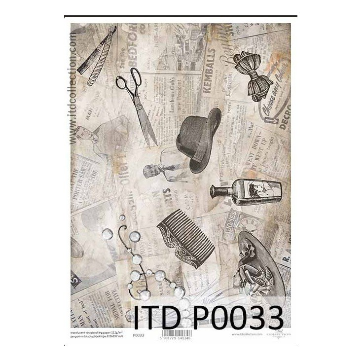 Parchment paper printed, tracing paper- P0033 - ITD Collection