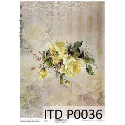 Papier pergaminowy drukowany, kalka - P036- ITD Collection
