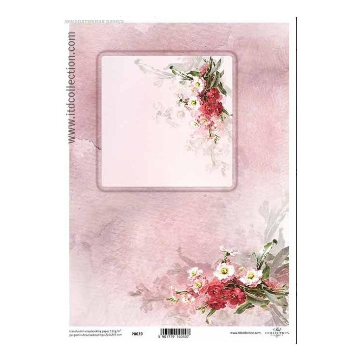 Papier pergaminowy drukowany, kalka - P0039- ITD Collection