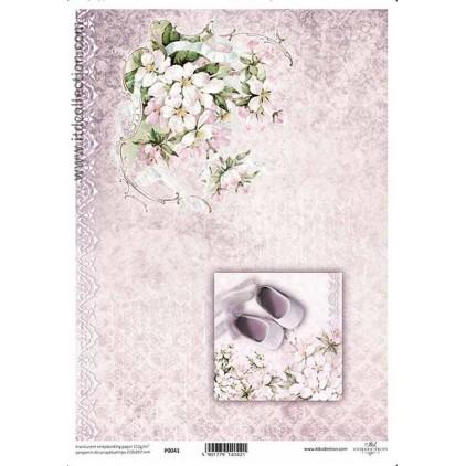 Papier pergaminowy drukowany, kalka - P0041- ITD Collection