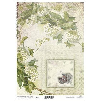 Papier pergaminowy drukowany, kalka - P0043- ITD Collection