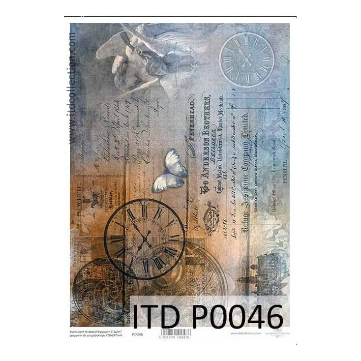 Papier pergaminowy drukowany, kalka - P0046- ITD Collection