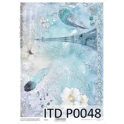 Papier pergaminowy drukowany, kalka - P0048- ITD Collection